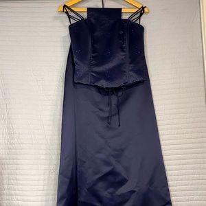 Women's 2 Piece Dark Blue Dress